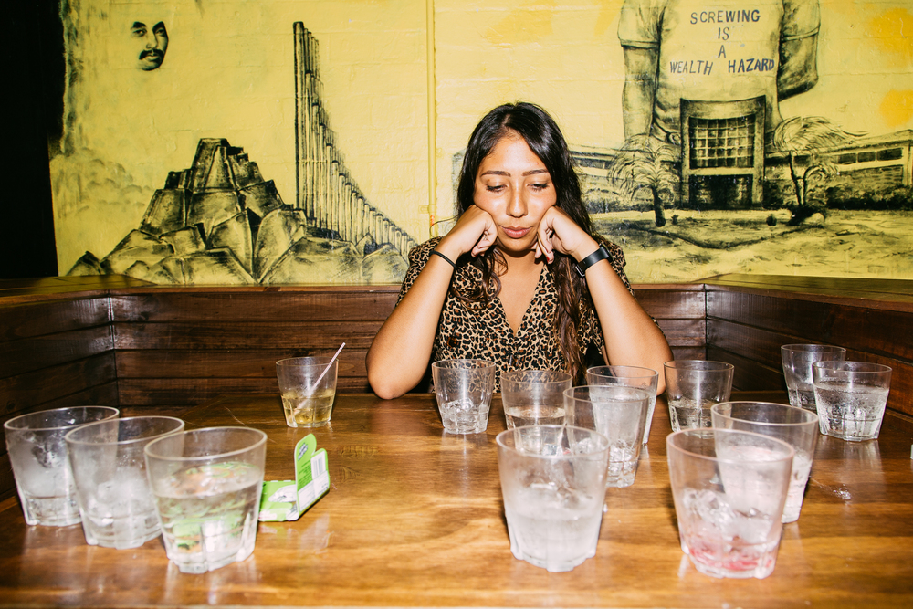 08.11.2015  Sad gal drinking all the vodka @ Halfway Crooks.