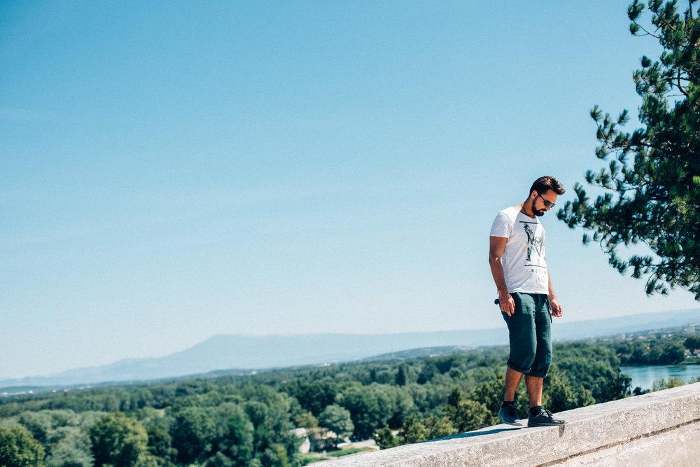 11.08.2016  Avignon with Aleksei.