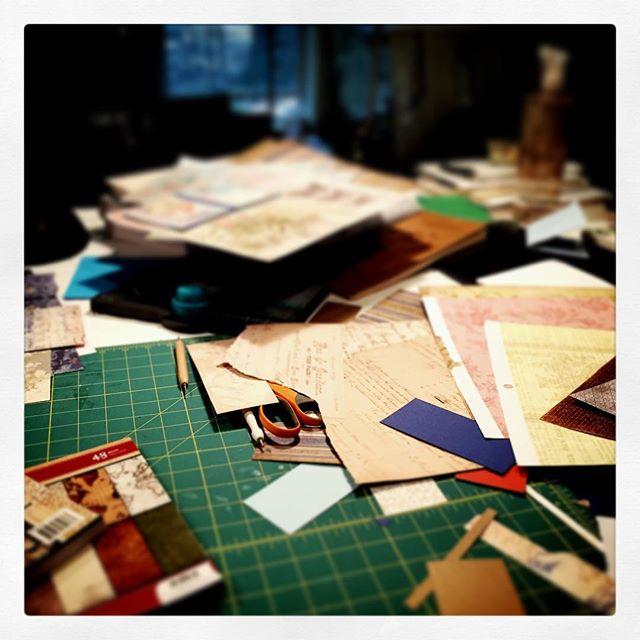 Desk mess #paper