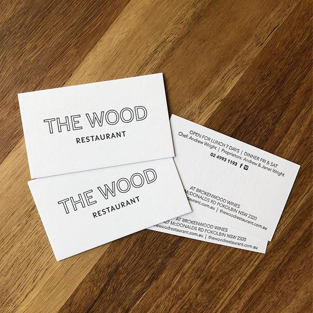 We recently printed these little beauties for a very special restaurant @thewoodrestaurant @brokenwoodwines for our friends @sneddonandco