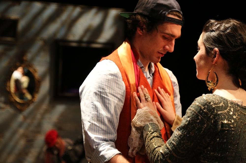Zach Libresco (Julio) and Montana Lampert Hoover (Leonora)  © Amanda Hinkle.