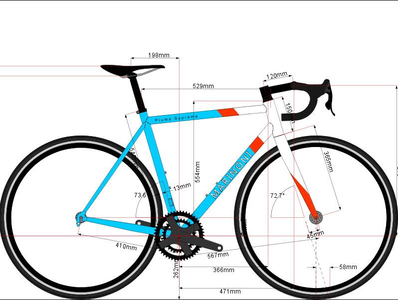 Marinoni Piuma Supreme - Custom Build — Bicycle and Rider