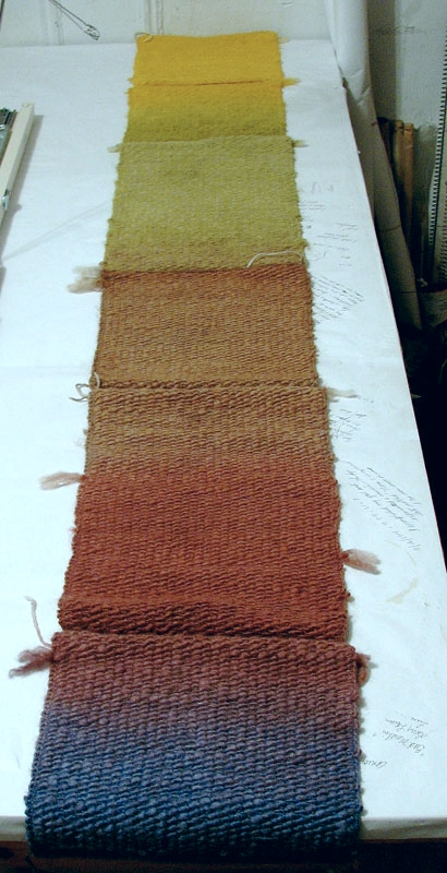 The first dyed panel.