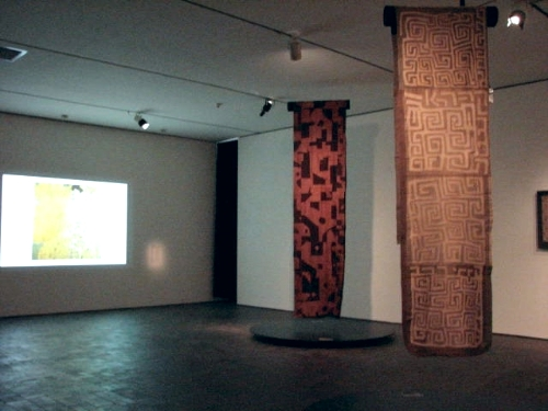 Kuba cloth had a significant effect on the artist Gustav Klimt. His sister, painted in a kuba inspired dress, is shown in the video.