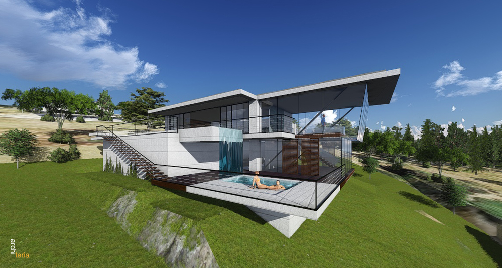 Modern concrete house design in melbourne best melbourne for Cement home plans