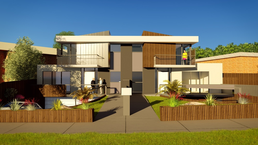Townhouses best architects melbourne for Side by side plans