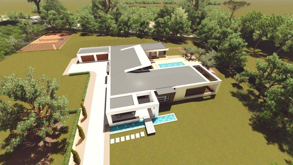 Wonga Park house - Aerial View