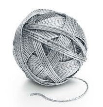 Tiffany $ Co silver ball of yarn for $14,900 (Photo credit to Tiffany©)