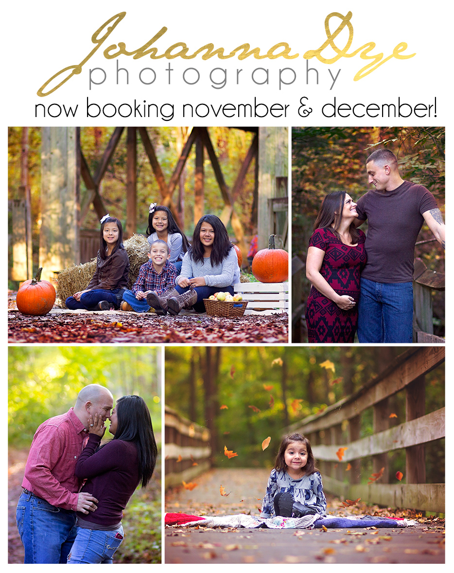Fayetteville North Carolina Fall and Christmas Family Sessions on the East Coast