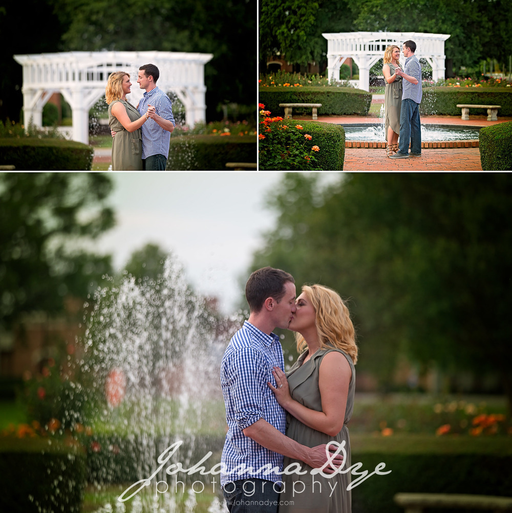 Engagement Photography at the FTCC Rose Garden in Fayetteville North Carolina