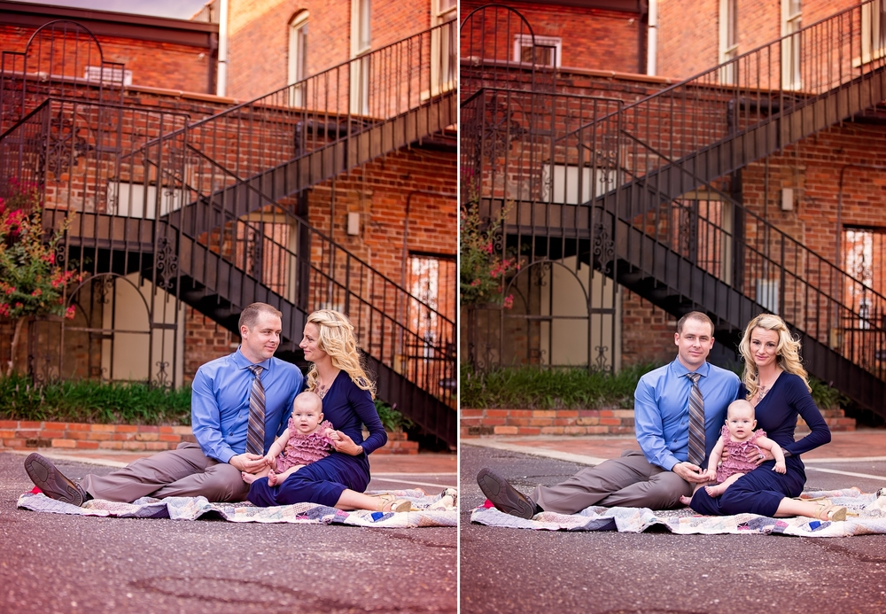 Family Photographer in Downtown Fayetteville, North Carolina