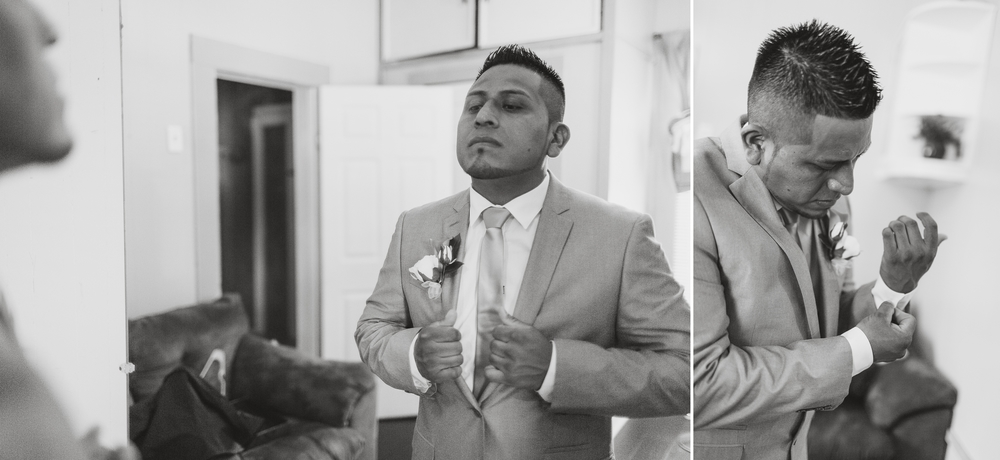 Groom getting ready St Pauls North Carolina Wedding Photography