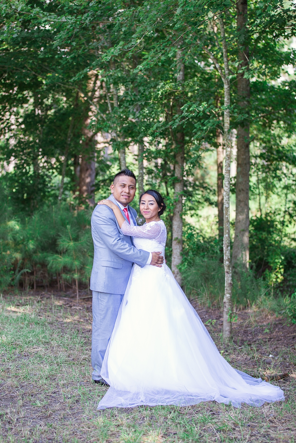 Bride and Groom Portrait St Pauls North Carolina Wedding Photography
