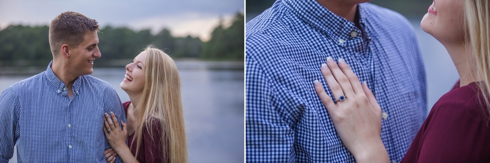 Engagement Photography Session at Lake Rim in Fayetteville North Carolina