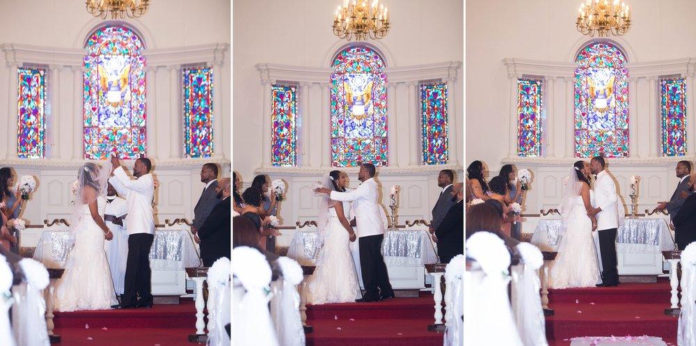 Wedding at Fort Bragg Main Post Chapel