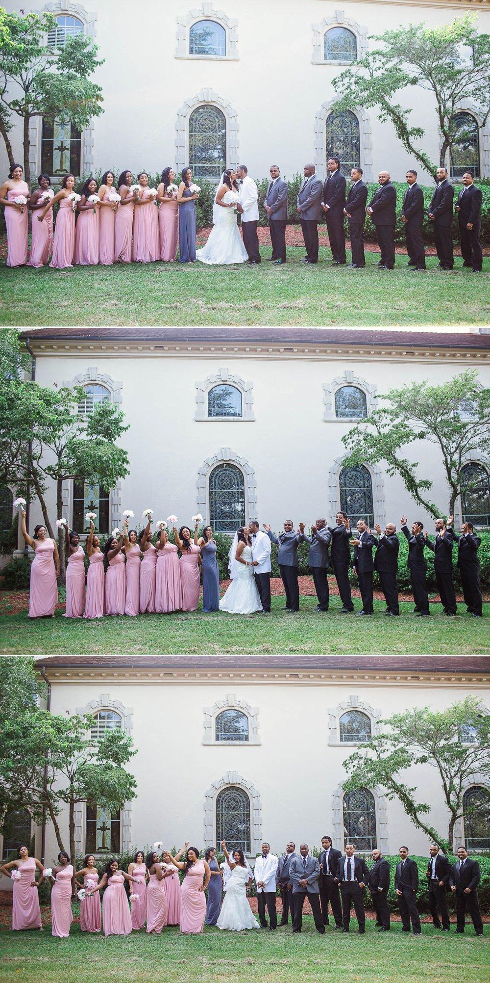 Bridal wedding photography at fort bragg main post chapel