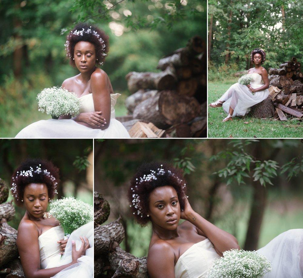Natural Hair african american bride wedding