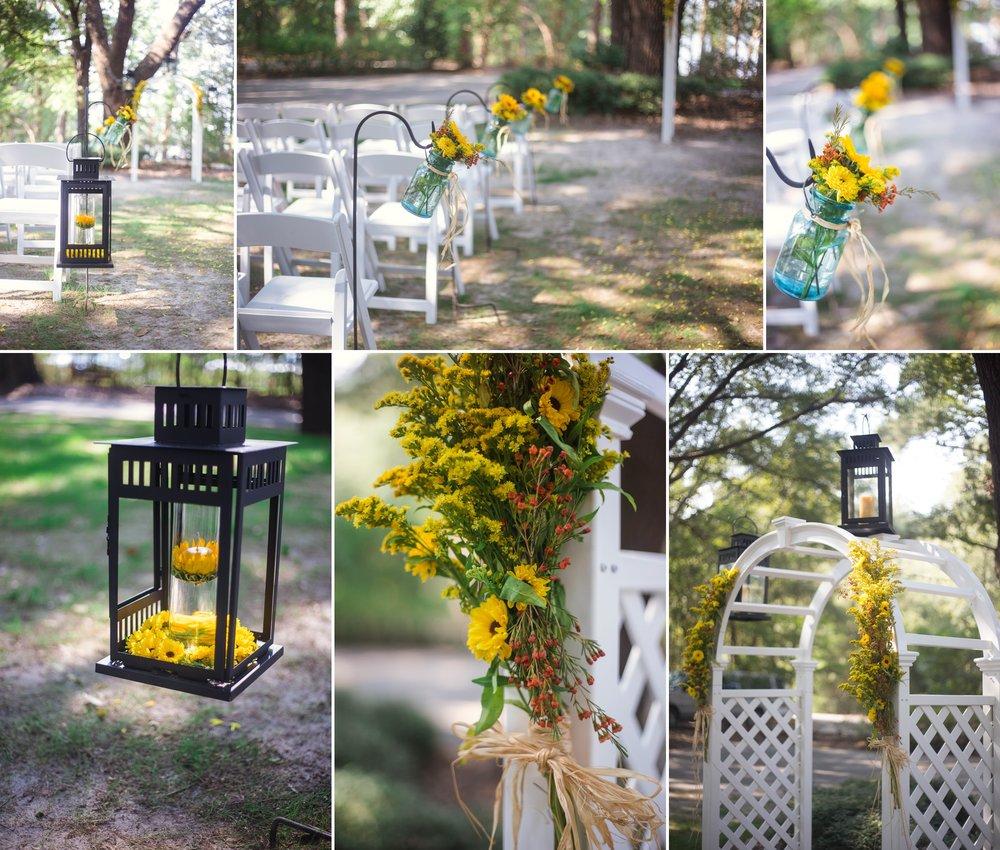 Wedding at King Fisher Society by Laurinburg, North Carolina
