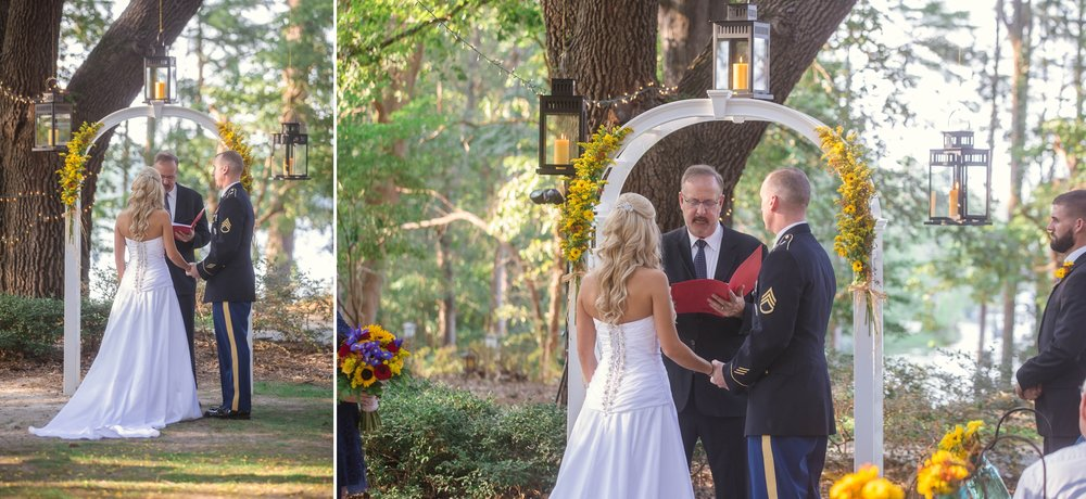 Wedding Ceremony at King Fisher Society by Laurinburg, North Carolina