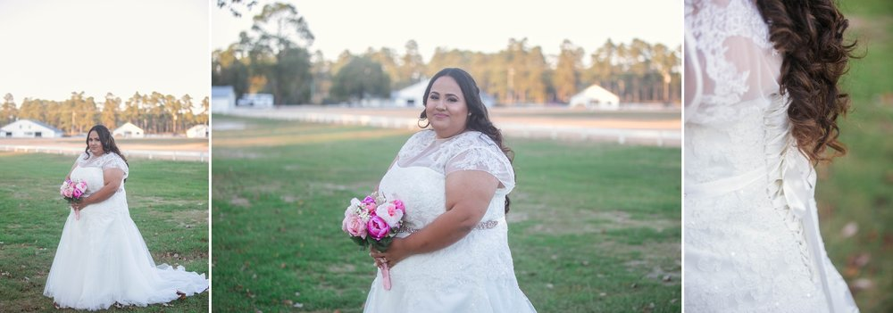 Wedding photography at the fair barn in pinehurst north carolina