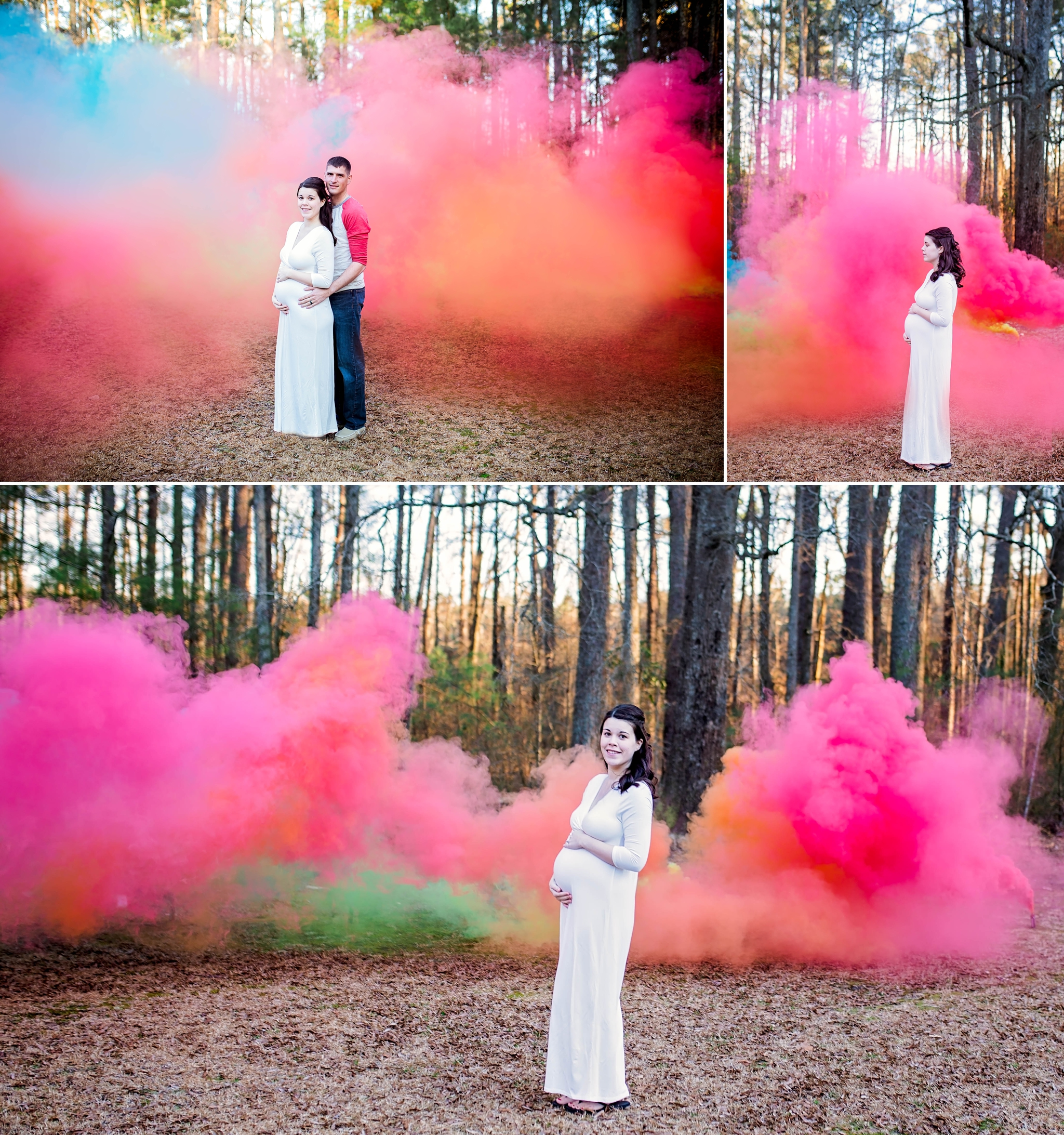 303b460ae6 Rainbow Baby Maternity Photography Session with Smoke Bombs in Fayetteville  North Carolina