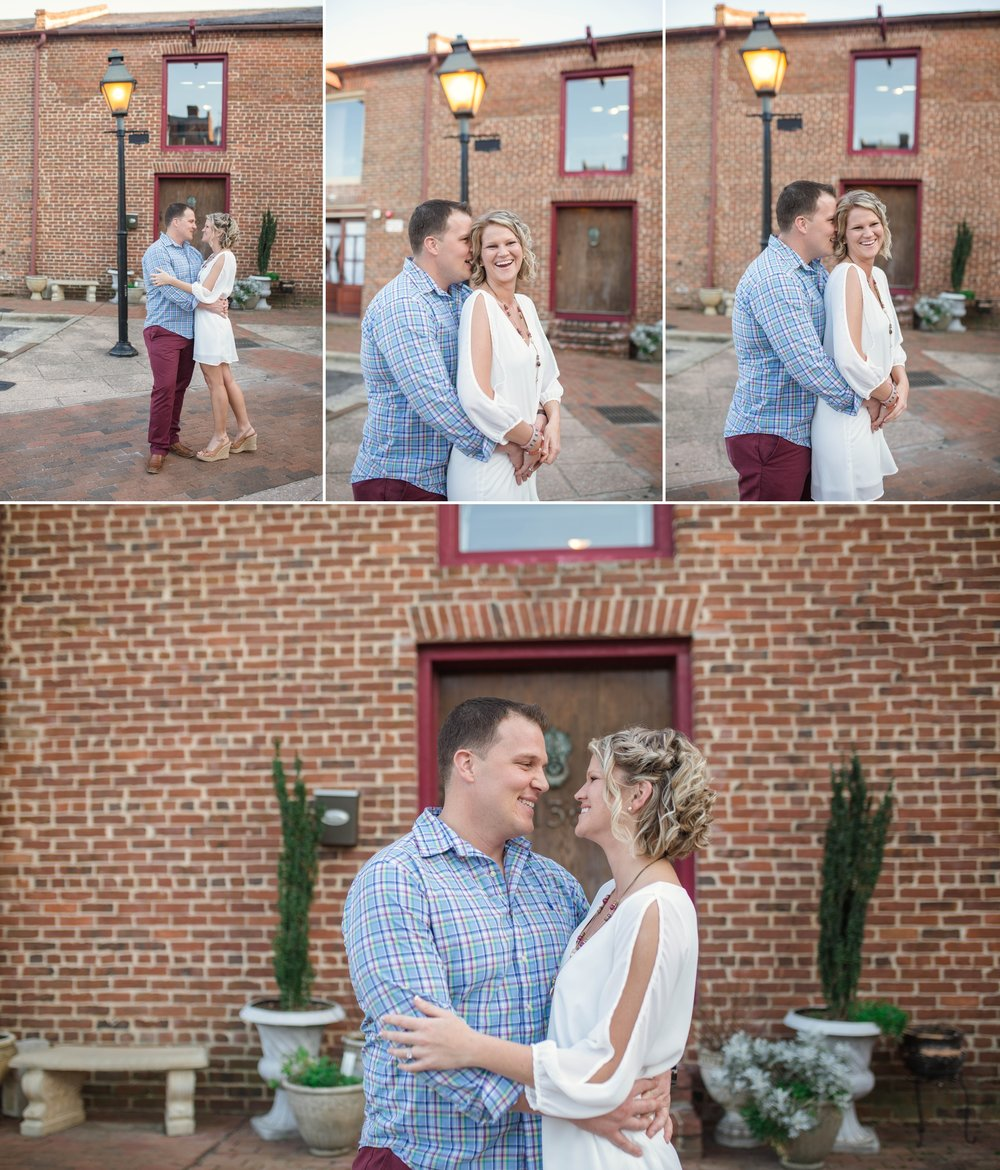 Engagement Photography Session in Downtown Fayetteville North Carolina