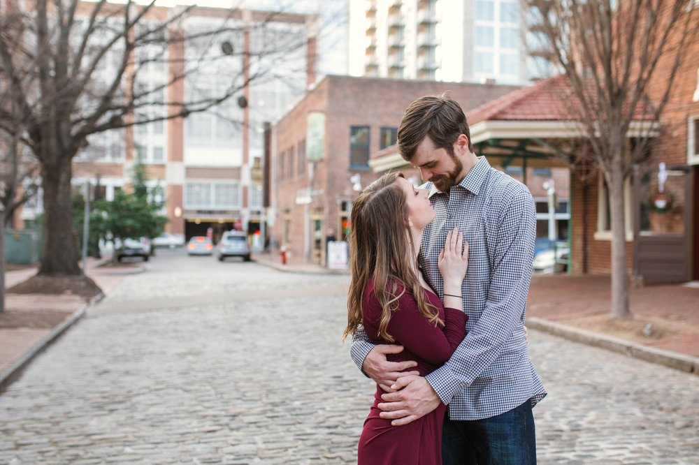 Downtown Raleigh Engagement Session at the Lincoln Theatre - North Carolina Wedding Photographer + urban photography couples