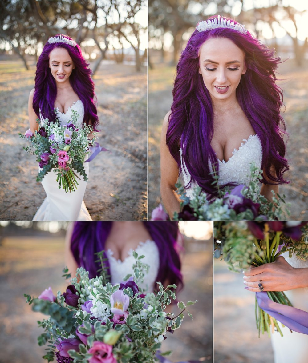 Fort Fisher NC Wedding Photography in Kure Beach - Johanna Dye - Mermaid Inspired - Purple