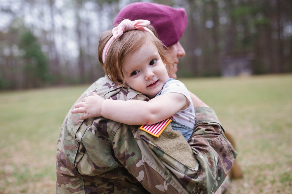Military Family Photography at Clark Park in Fayetteville North Carolina