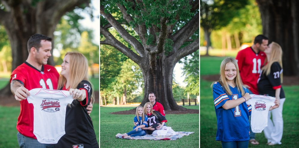 Military Family Maternity Photography Session at the FTCC Rose Garden in Fayetteville, NC - Raleigh North Carolina Photographer - Johanna Dye