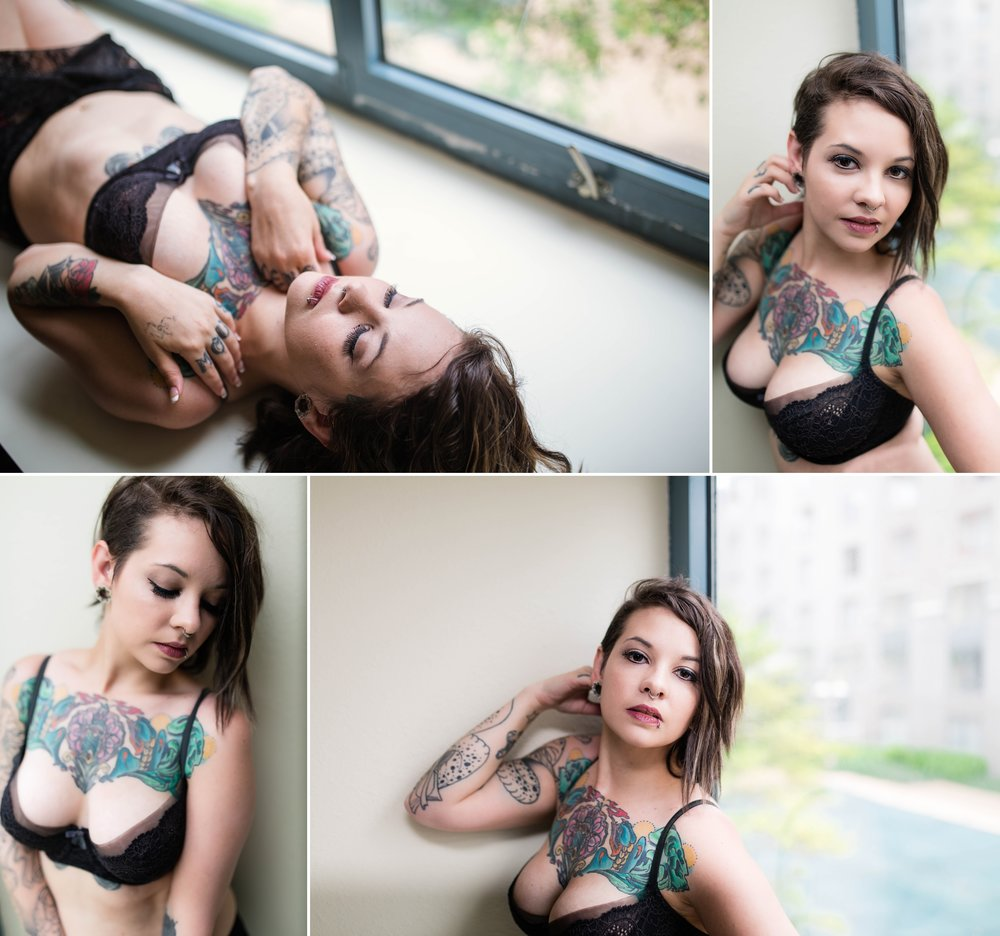 Alternative Tattoo Model - Pin up Boudoir Photography in Raleigh North Carolina - Johanna Dye Photography