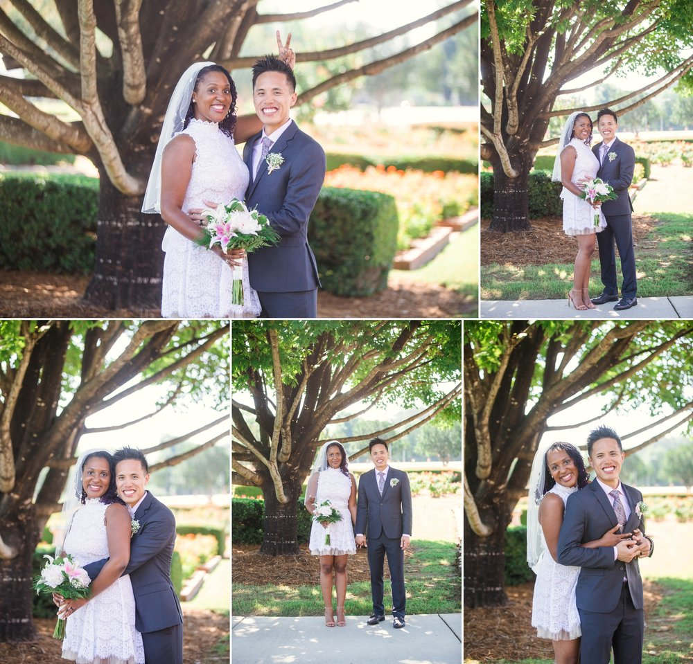 Elopement at the FTCC Rose Garden in Fayetteville North Carolina - Wedding Photographer