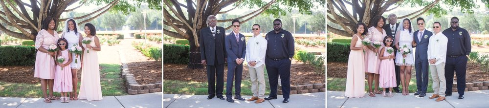 Small Wedding Elopement Photography at the FTCC Rose Garden in Fayetteville North Carolina 7.jpg