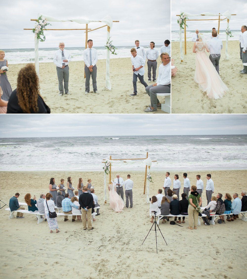 Beach Ceremony in Corolla NC      Outer Banks Beach Wedding Photographer - Johanna Dye Photography - OBX