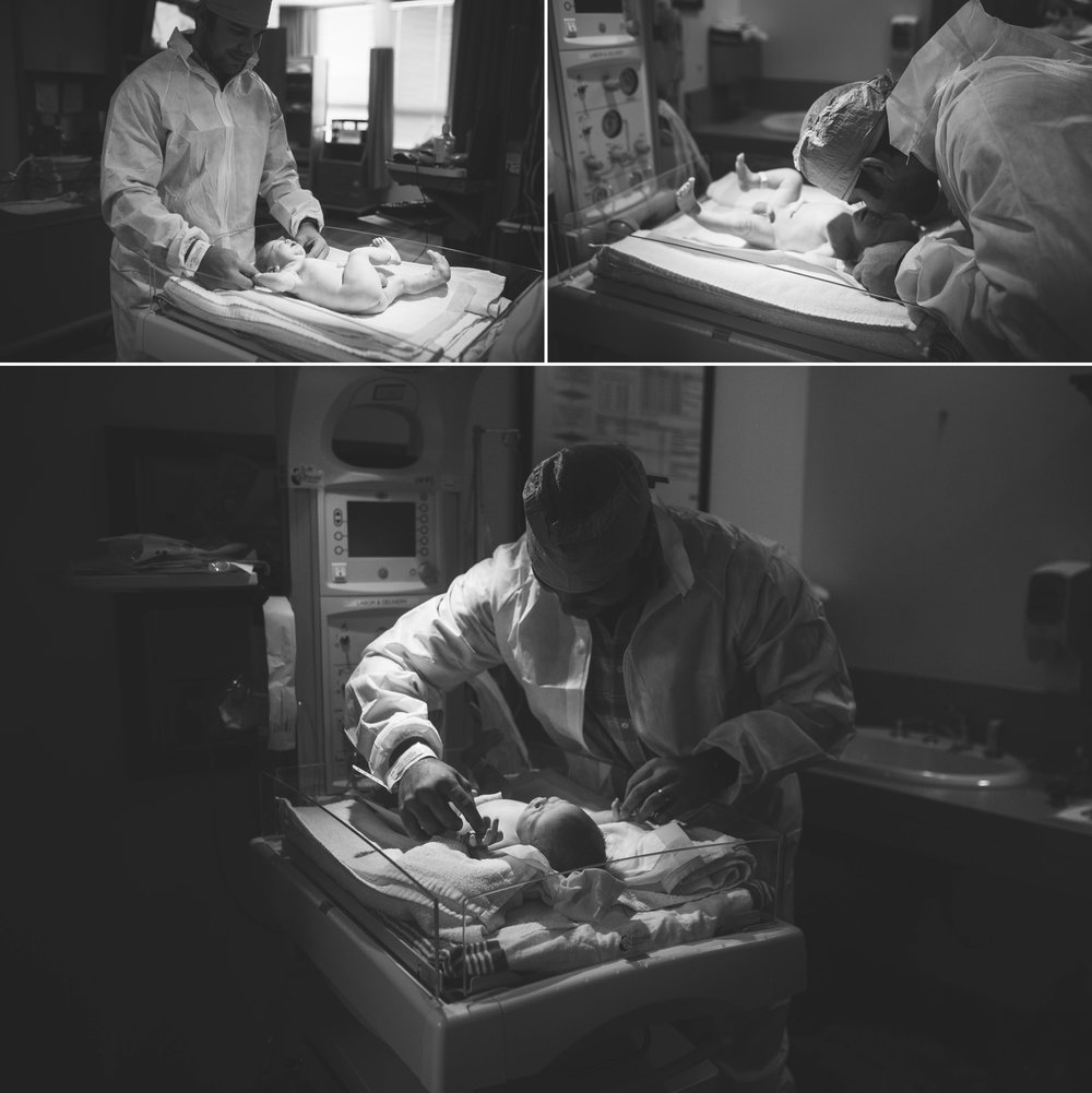 C Section Birth Photographer at Womack Army Medical Center Hospital in Fort Bragg, North Carolina - Johanna Dye Photography