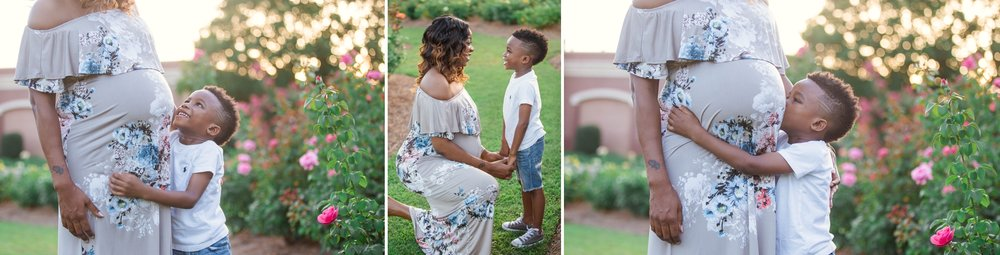 Maternity Photography Session at the FTCC Rose Garden in Fayetteville North Carolina