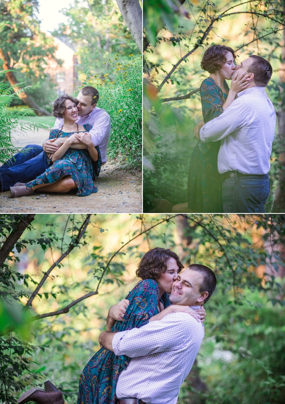 Dani + Adam - Engagement Photography Session at the UNC Chapel Hill Arboretum