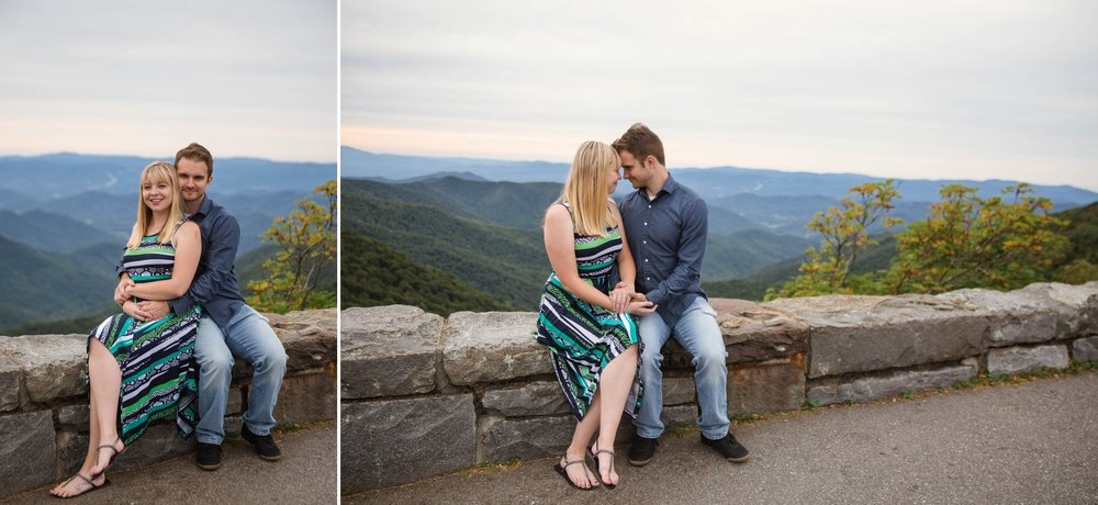 Anna + Josh - Mountain Engagement Photography Session at Craggy Gardens Blue Ridge Parkway - Asheville North Carolina Wedding Photographer - Johanna Dye