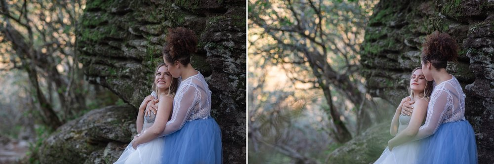 Same Sex Mountain Elopement at Craggy Gardens - Asheville, North Carolina Wedding Photographer - Johanna Dye