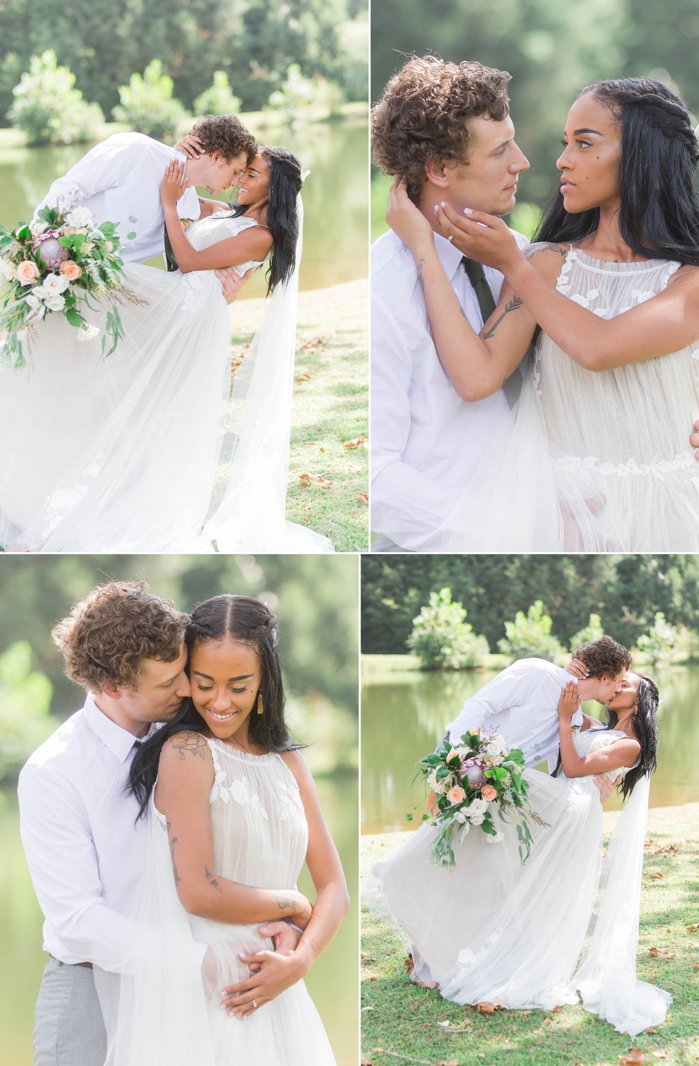 Interracial Wedding Portrait Photography - Asheville Wedding Photographer - Johanna Dye