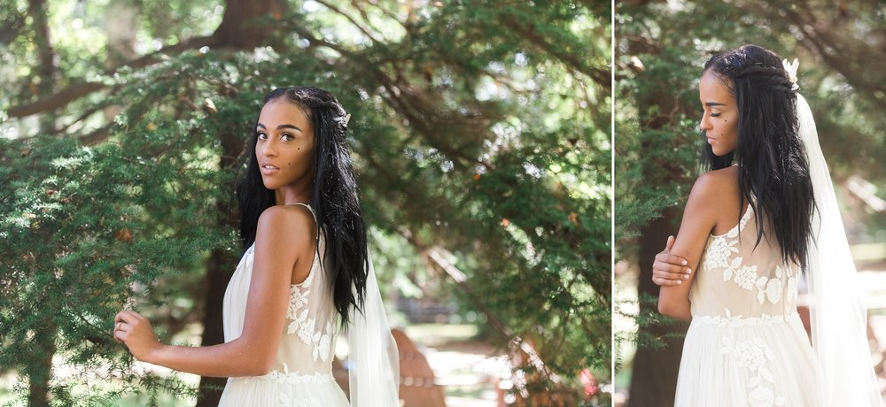 African American Black Bride Bridal Photography Session in Raleigh North Carolina