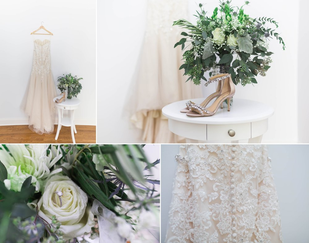 Bridal Details, Dress and shoes - Chatham Mills in Pittsboro North Carolina Wedding Photography - Johanna Dye - Meredith and Brandon
