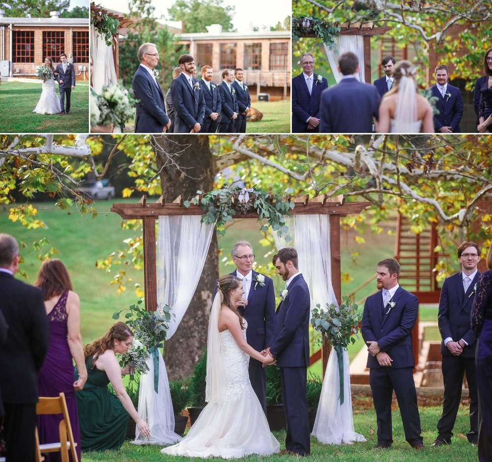 Ceremony at Chatham Mills in Pittsboro North Carolina Wedding Photography - Johanna Dye - Meredith and Brandon