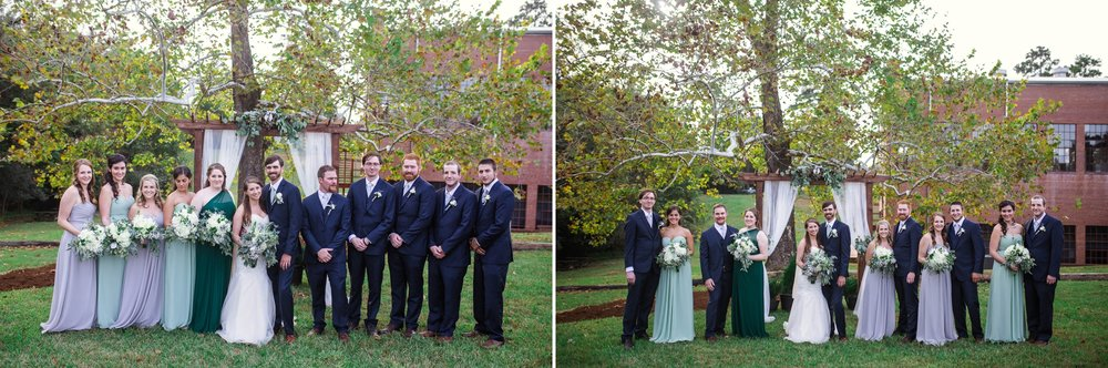 Bridal Party bridesmaids and groomsmen Chatham Mills in Pittsboro North Carolina Wedding Photography - Johanna Dye - Meredith and Brandon