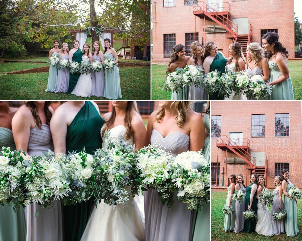 Bridesmaids Portraits Chatham Mills in Pittsboro North Carolina Wedding Photography - Johanna Dye - Meredith and Brandon