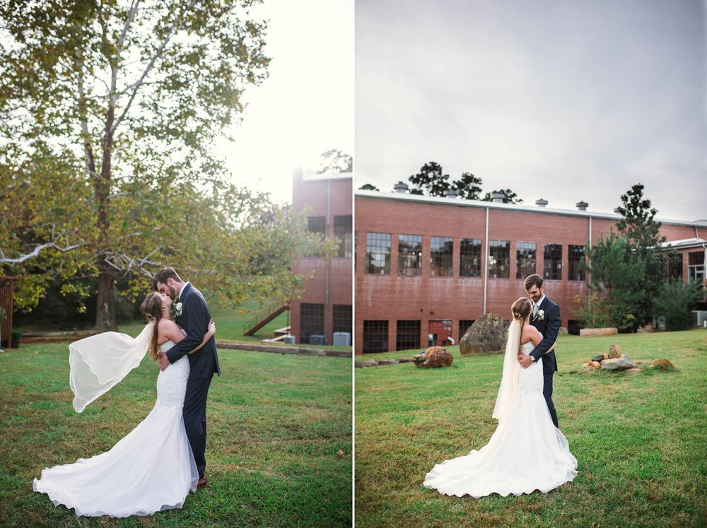 Outdoor Bride and Groom Portraits at Chatham Mills in Pittsboro North Carolina Wedding Photography - Johanna Dye - Meredith and Brandon