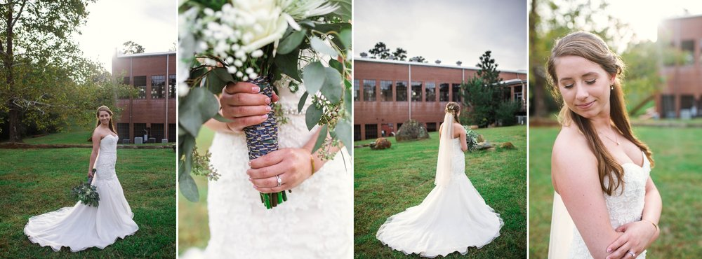 Bridal Portraits at Chatham Mills in Pittsboro North Carolina Wedding Photography - Johanna Dye - Meredith and Brandon