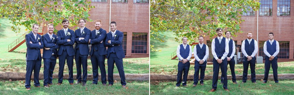 Groomsmen Portraits Chatham Mills in Pittsboro North Carolina Wedding Photography - Johanna Dye - Meredith and Brandon