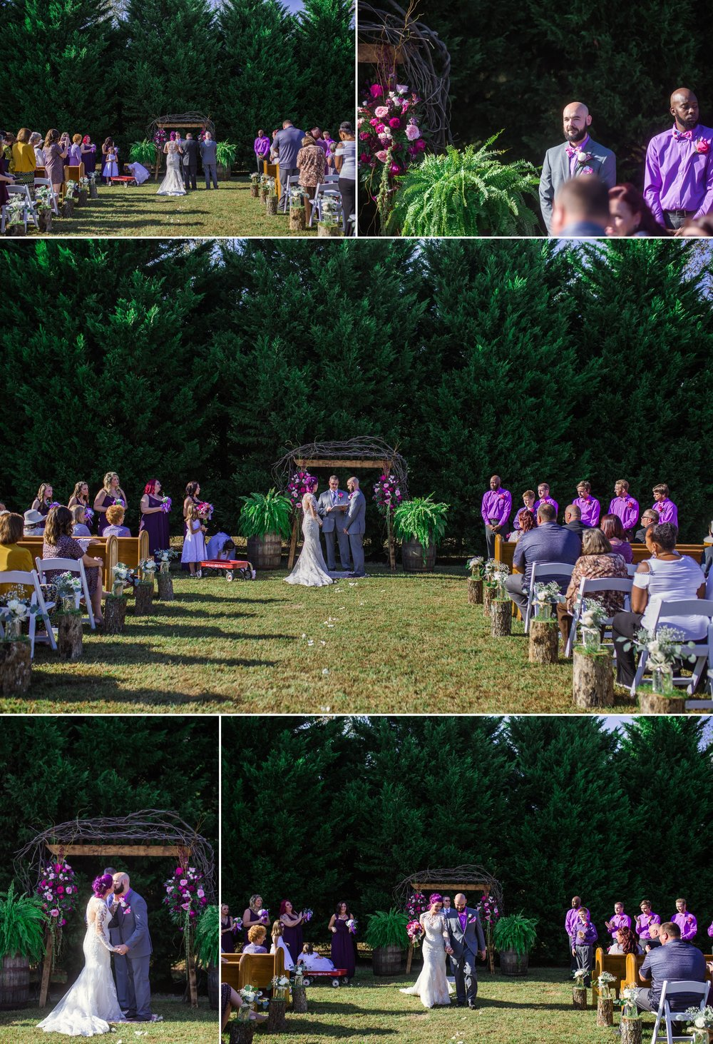 Outdoor Ceremony - Brittany + Jonathan - Raleigh North Carolina Wedding Photographer