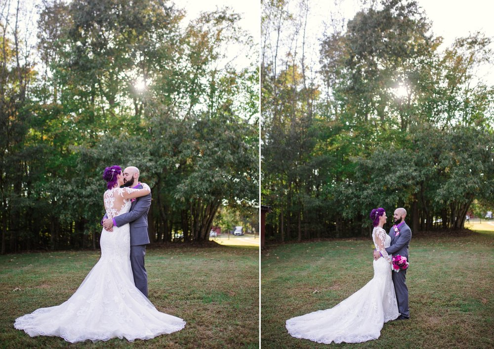 Bride and Groom Portraits - Brittany + Jonathan - Raleigh North Carolina Wedding Photographer